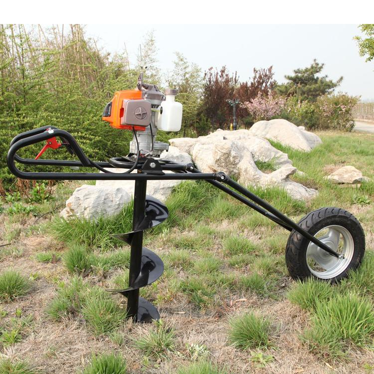single wheel ground drill