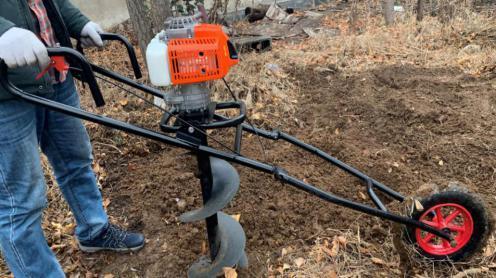 獨輪折疊式地鑽 種植機 12