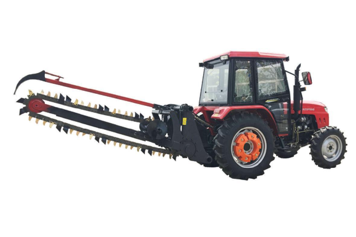 农用拖拉机带动开沟回填机 4