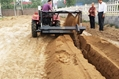 Large chain trencher and back filling Grooving machine