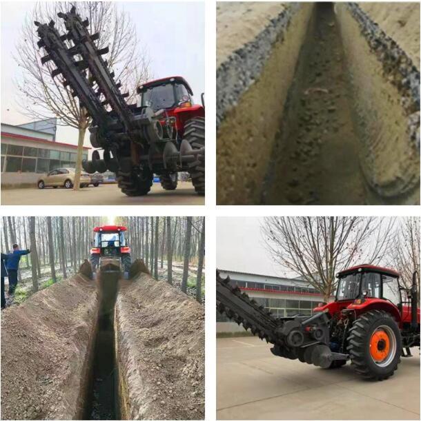 農用拖拉機帶動開溝回填機 10