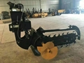 Large chain trencher and back filling Grooving machine  11