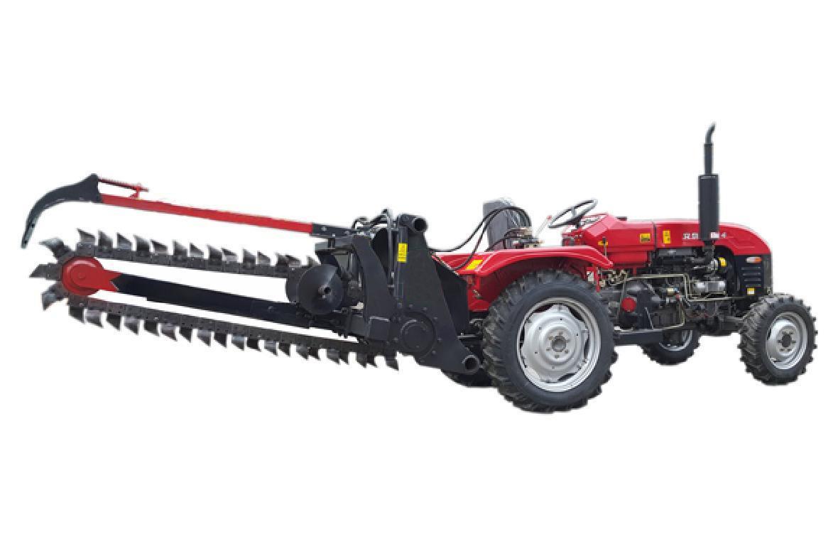 农用拖拉机带动开沟回填机 3