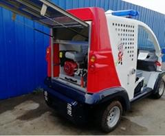 小型巡邏消防車 高壓細水霧電動巡視車安保車