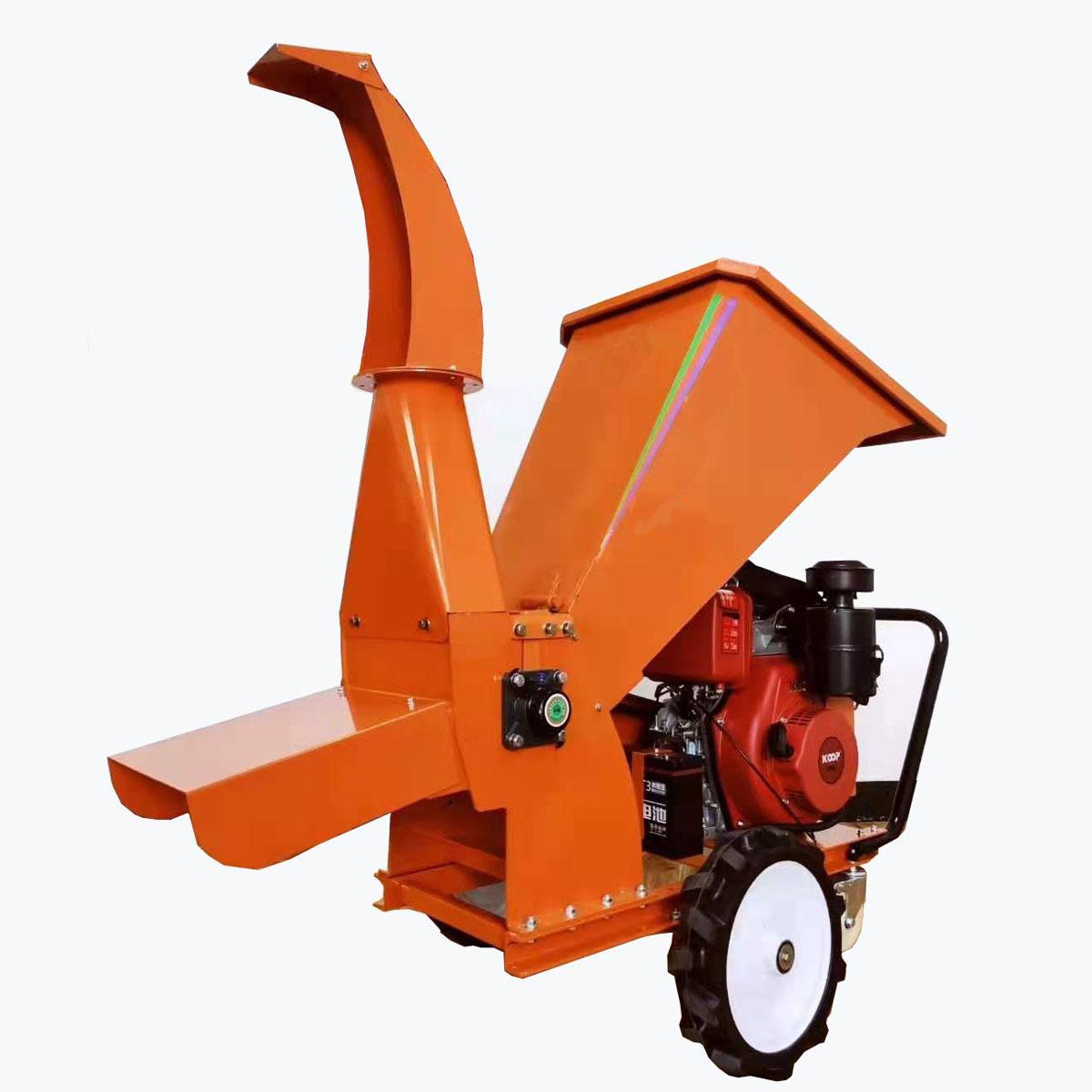 Wheel type TWIG crusher  engine deadwood crusher Fruit Branch crusher