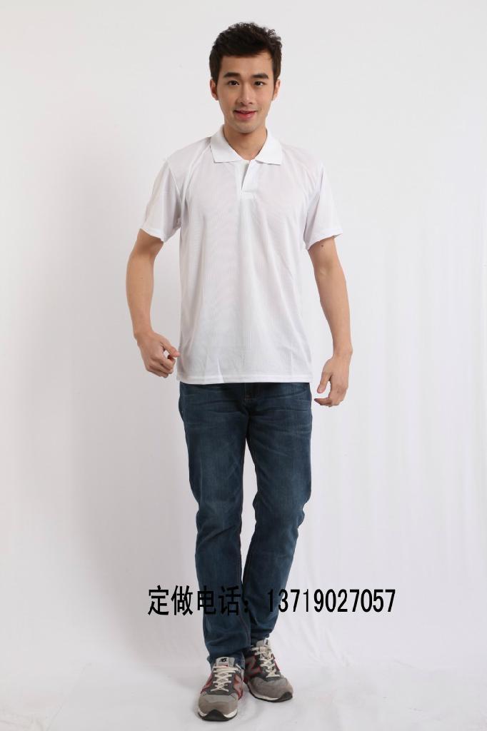 超级排汗网眼翻领广告T恤衫 3