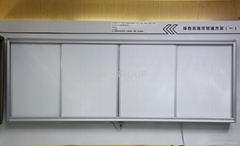 Matte polymer erasable dust-free push-pull whiteboard