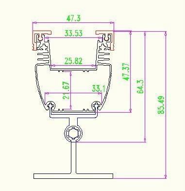 LED wall washer light/line light shell 1