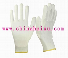 white PU coated safety electrical work gloves