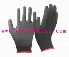 black PU coated working gloves