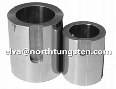Tungsten alloy tube radiation protection container, shielding pot