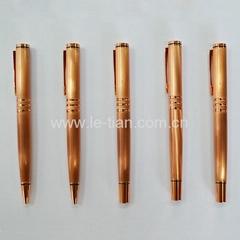 玫瑰金色金屬中性筆圓珠筆