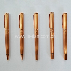 Rose gold metal gel pen ball pen