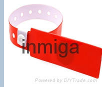 Waterproof RFID PVC HF one-time wristband for hospital