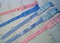Waterproof RFID PVC HF one-time wristband for hospital 4
