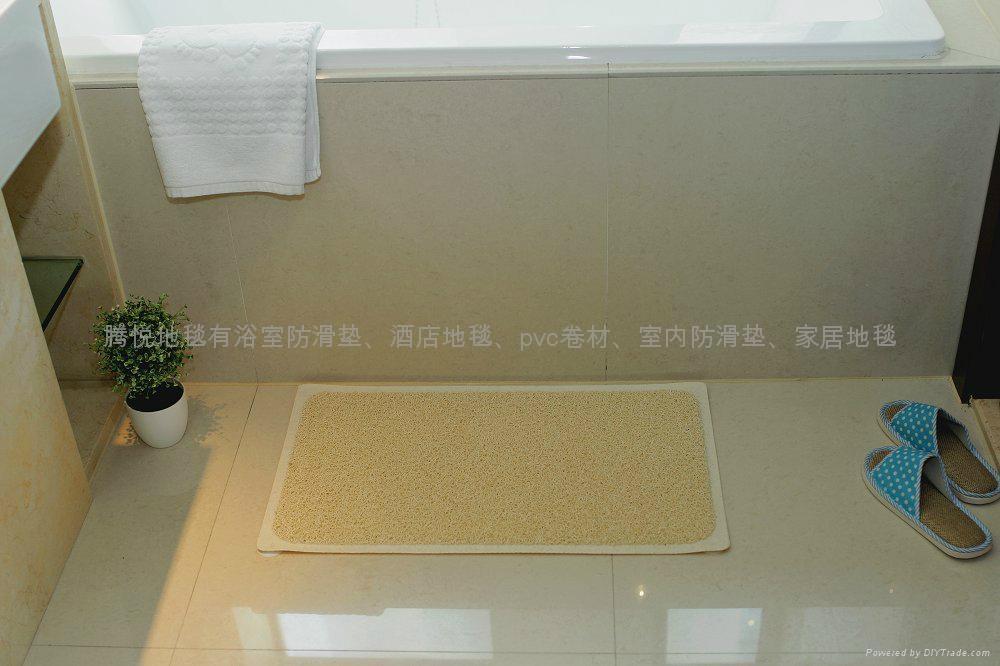 PVC浴室防滑垫-吸盘地毯加固防滑 5