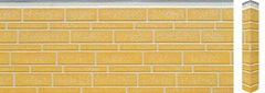 pu and metal embossed decorative external wall covering panels
