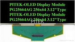 "PG25664AW/Y/G/B 3.12"" 256x64 Graphic OLED Display Module"