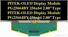 """PG25664BY/B 2.80"""" 256x64 Graphic OLED Display Module"""