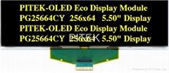 """PG25664CY/G 5.50"""" 256x64 Graphic OLED Display Module"""