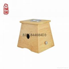 單孔艾灸盒竹制艾灸盒艾條艾灸盒