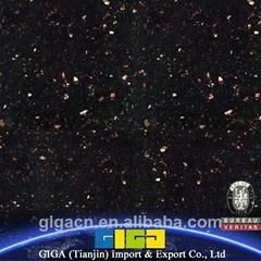 GIGA natural China 18mm polished black granite slab