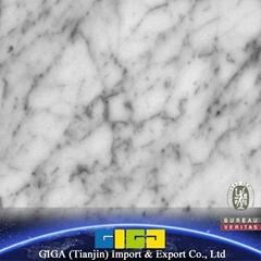 GIGA 16mm natural stone crystal white marble tile