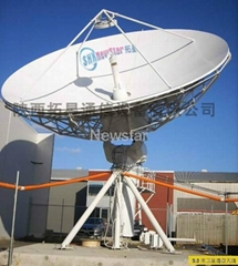 9.0m high gain earth station satellite antenna