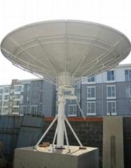 3.7m Receiving-only satcom antenna