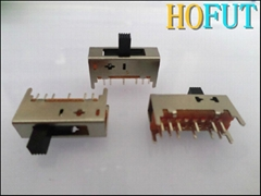 Vertical five-speed toggle switch with