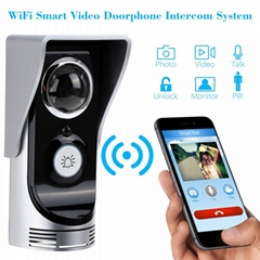 WIFI visual doorbell can be remotely monitored unlocked supported   Android &IOS
