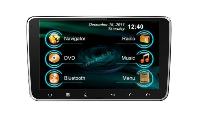 In-dash Car stereo radio/dvd/gps/mp3/3g multimedia system for Deckless Universal 1