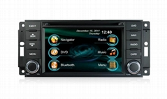 In dash Car DVD Player GPS Navigation+Radio+Bluetooth for Jeep Compass Wrangler