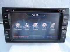 Touch screen LCD in car audio stereo/dvd/gps/radio player for Nissan Universal
