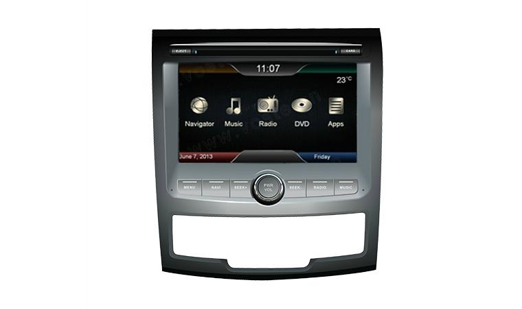In car dvd player+gps+bluetooth+radio+mp3 multimedia system for Ssangyong Action 1