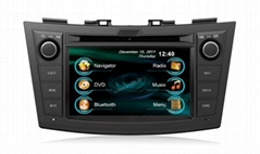 7'' Touch screen dual dvd player for car with gps/radio for Suzuki Swift