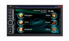 In-dash Car stereo radio/dvd/gps/mp3/3g multimedia system for 2 Din Universal