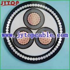 HV 20kV POWER CABLE COPPER CONDUCTOR XLPE INSULATED STEEL WIRE ARMORED CABLE