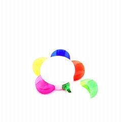 Flower Shaped Highlighter Pens 5 Colors Custom Design