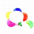 Flower Shaped Highlighter Pens 5 Colors Custom Design 3