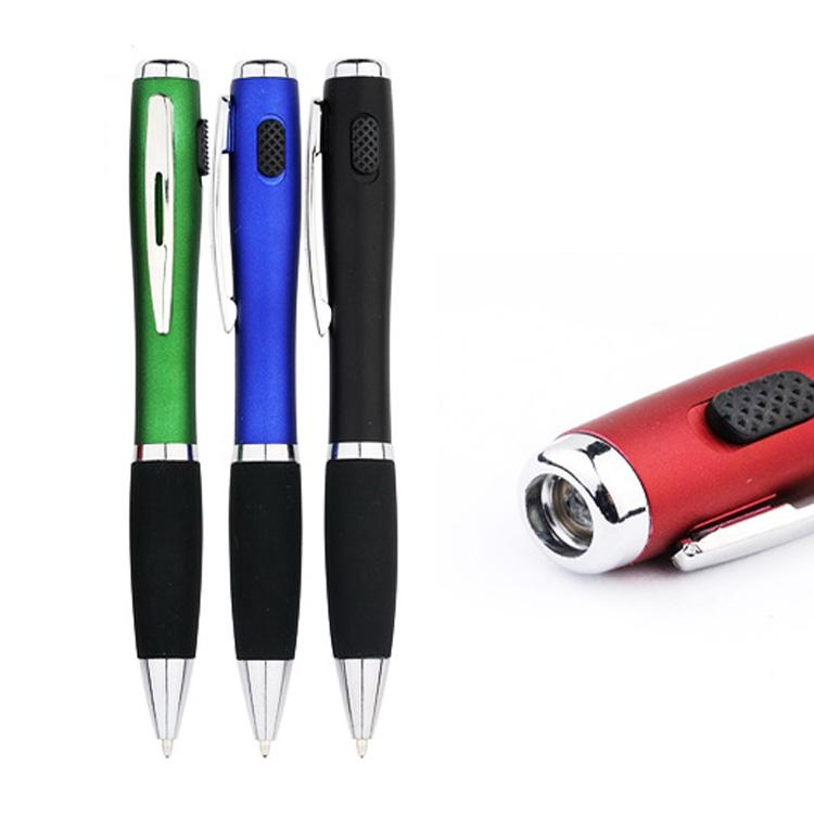 Promotional Custom Logo LED Light Ball Pen with Clip 1