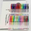 Plastic Multi Colored 60 Color Gel Pen