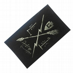 Custom Leather Patches for garments or men jackets in Dongguan