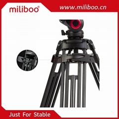 miliboo MTT601A Professional Aluminum Tripod Stand for Canon Nikon Sony DSLR Cam
