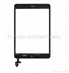 For iPad Mini Digitizer Touch Screen Glass Panel With IC Chip Assembly Black