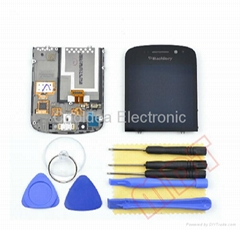 Blackberry Q10 Full LCD Digitizer Touch Screen Assembly with frame Black