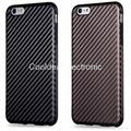 For iPhone 5 5S 6 6S 7 8 X Carbon Fibre