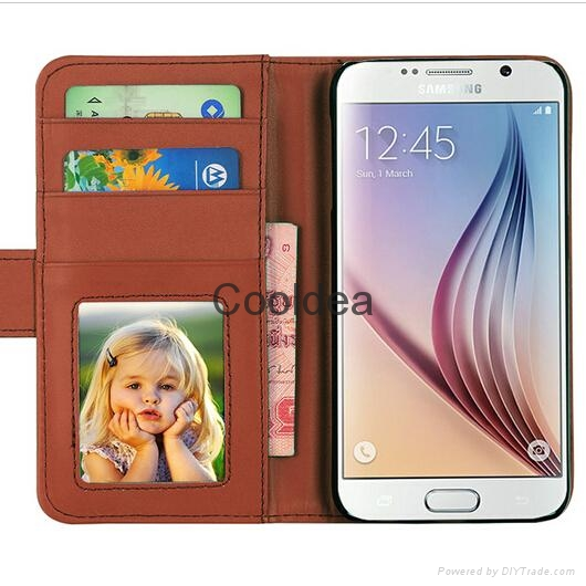 Luxury Retro Leather Flip Case For Samsung Galaxy S5 SV i9600 Cellphone  3