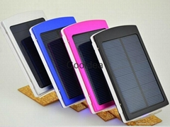 Solar Charger 2 Port powerbank ,Power Bank For Cellphone iPhone4s 5 5S  iPad