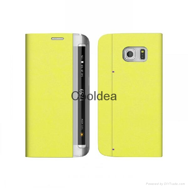 Flip Case With Card Slot For Samsung Galaxy S6 Edge  5